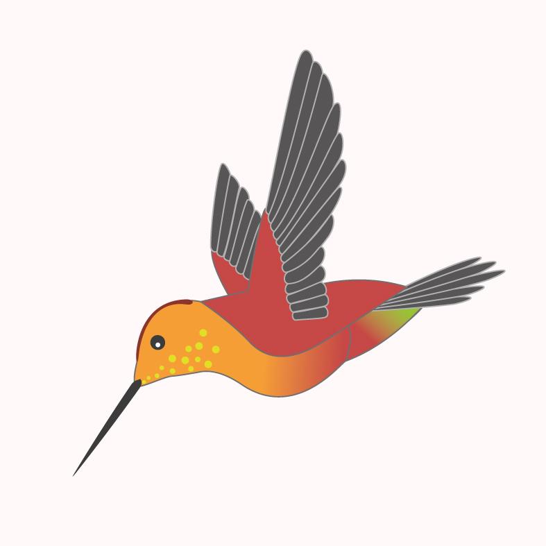 Kolibri fliegend