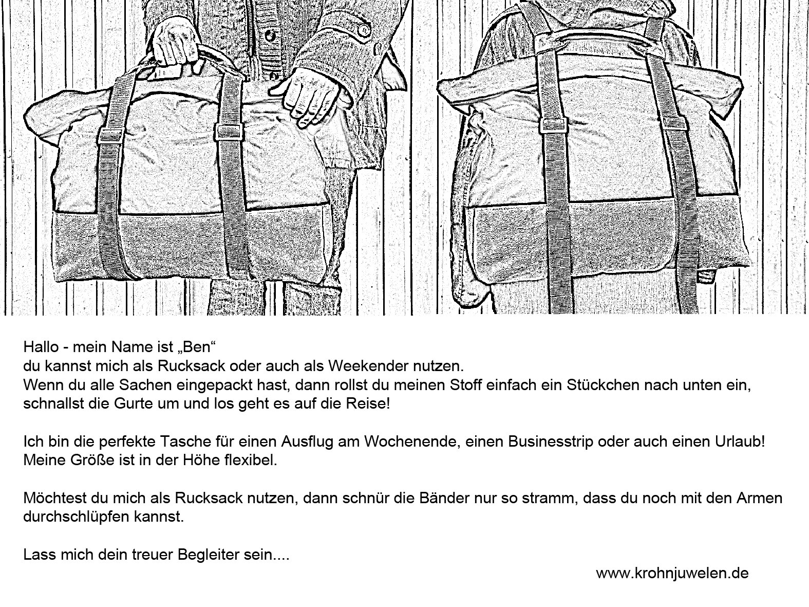 Packsack_schwarzweiss_vorn_hinten